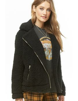 Shaggy Faux Fur Moto Jacket by Forever 21