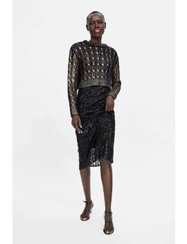 Sparkly Cable Knit Sweater  Dress Timewoman Corner Shops by Zara
