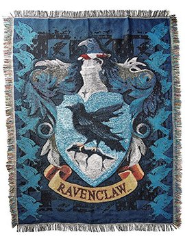 "Harry Potter, ""Ravenclaw Crest"" Woven Tapestry Throw Blanket, 48"" X 60"" by Warner Brothers"