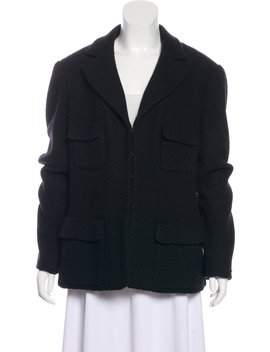Wool Notch Lapel Jacket by Chanel