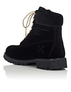 Men's Velveteen 6 Inch Boots by Off White C/O Virgil Abloh