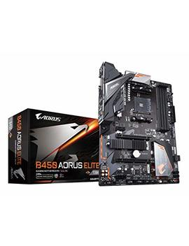 Gigabyte B450 Aorus Elite (Amd Ryzen Am4/ M.2 Thermal Guard/Hmdi/Dvi/Usb 3.1/Ddr4/Atx/Motherboard) by Gigabyte