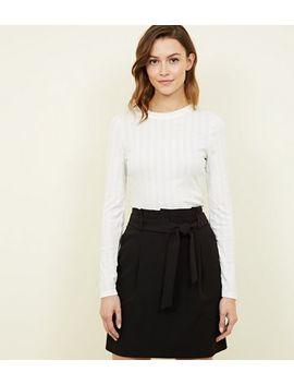 Black Paperbag Waist Mini Skirt by New Look