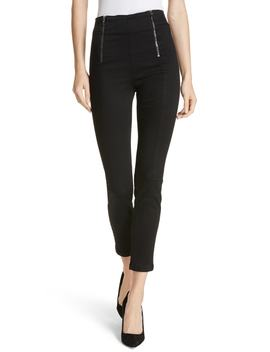 Double Zip Waist Skinny Jeans by Frame