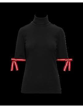 Tie Elbow Sleeve Turtleneck by Ralph Lauren