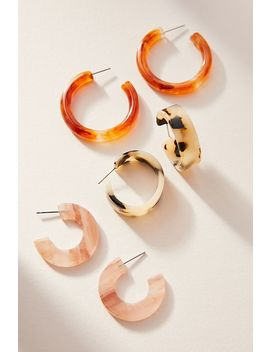 Cindy Resin Hoop Earring Set by Anthropologie