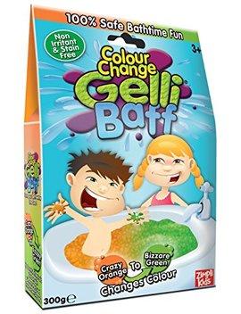 Gelli Baff Colour Changing Goo (Crazy Orange/Bizarre Green) by Gelicity