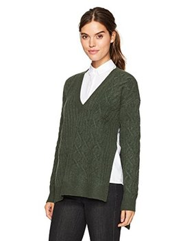 Kenneth Cole Women's Irregular Cable Tunic Sweater by Kenneth Cole