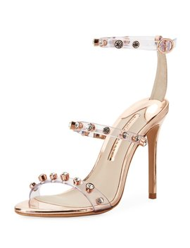 Rosalind Gem Vinyl Ankle Wrap Sandals by Sophia Webster