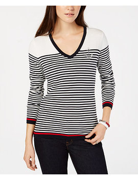 Cotton Striped Anchor Top by Tommy Hilfiger