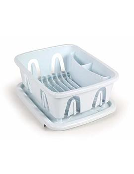 Camco Durable Mini Dish Drainer Rack And Tray Perfect For Rv Sinks, Marine Sinks, And Compact Kitchen Sinks  White (43511) by Camco