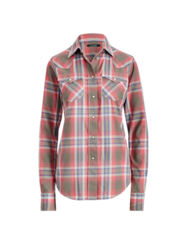 Plaid Western Shirt by Ralph Lauren