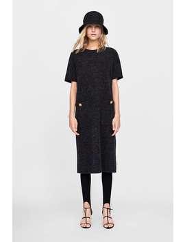Textured Dress With Pockets  Midi Dresses Woman by Zara