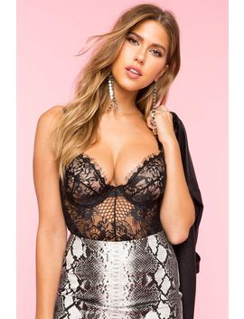 Lace Bustier Bodysuit by A'gaci