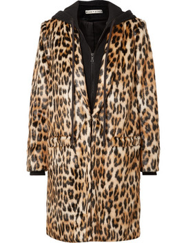 Kylie Leopard Print Faux Fur And Cotton Jersey Coat by Alice + Olivia