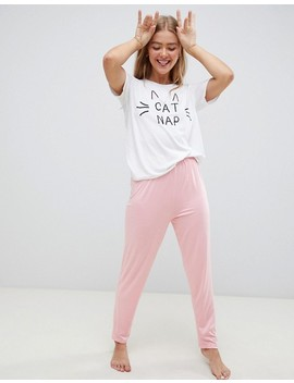 Adolescent Clothing Cat Nap Long Pyjama Set by Adolescent Clothing