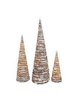The Holiday Aisle 3 Piece Led Cone Tree Lighted Display Set (Set Of 3) by The Holiday Aisle