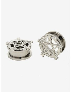 Steel Pentagram Plug 2 Pack by Hot Topic