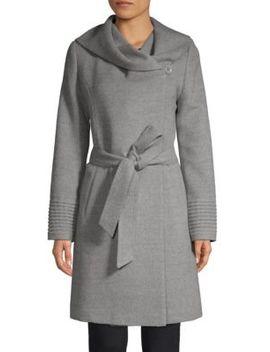 Hooded Alpaca Wrap Coat by Sentaler