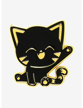 Waving Black Cat Enamel Pin by Hot Topic