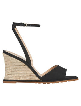 L.K.Bennett Talitha Wedge Heel Sandals, Black Suede by L.K.Bennett