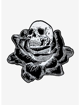 Velvet Rose Skull Patch by Hot Topic