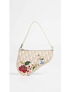 Dior Flower Mini Saddle Bag by What Goes Around Comes Around