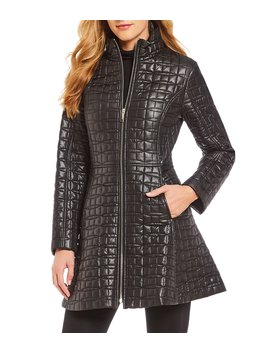 Quilted Fit And Flare Coat by Kate Spade New York
