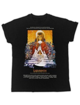 Cool David Bowie Labyrinth Poster Ideal Gift Birthday Present Mens Unisex Black T Shirts by Etsy