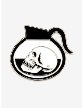 Coffee Pot Skull Enamel Pin by Hot Topic