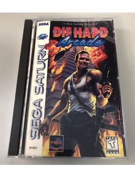 Die Hard Arcade Sega Saturn 1997 Case And Manual Only, No Game by Ebay Seller