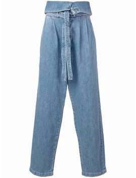 Belted Oversize Pleated Jeans by Loewe