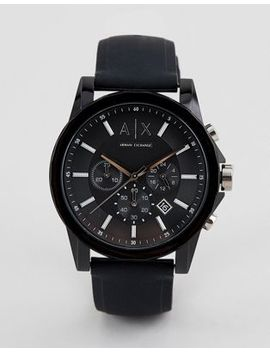 Armani Exchange Ax1326 Outerbanks Leather Watch by Armani Exchange