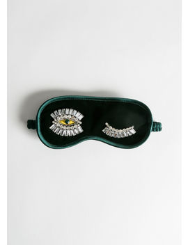 Jewelled Wink Velvet Eyemask by & Other Stories