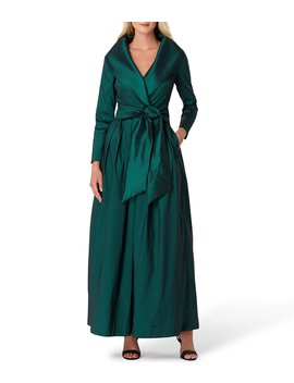 Taffeta Wrap Dress by Tahari Asl