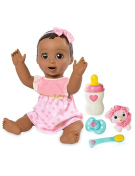 Luvabella Responsive Baby Doll With Realistic Expressions And Movement   Dark Brown Hair by Luvabella