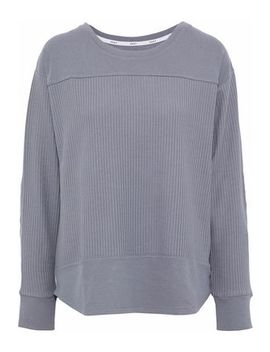 Ribbed Cotton Blend Jersey Pajama Top by Dkny