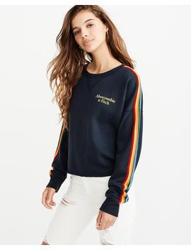 Sweatshirt Met Ronde Hals En Een Regenbooglogo by Abercrombie & Fitch