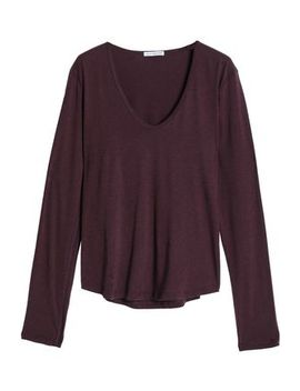 Cotton And Wool Blend Jersey Top by James Perse