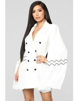 Marching To Her Own Beat Blazer Dress   White by Fashion Nova