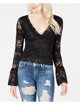 Jordan Lace Bell Sleeve Top by Guess