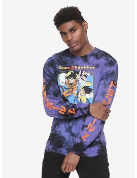 Dragon Ball Z Tie Dye Long Sleeve T Shirt Hot Topic Exclusive by Hot Topic