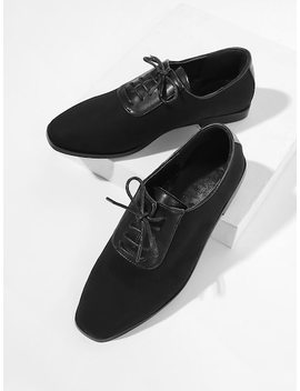 Lace Up Flat Oxfords by Sheinside
