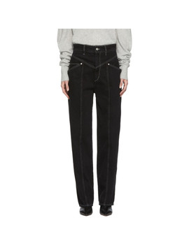 Black Lenie Jeans by Isabel Marant