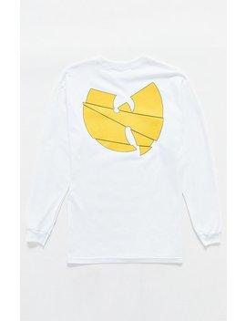Wu Tang Clan Logo Long Sleeve T Shirt by Pacsun
