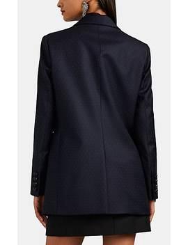 Everyday Dot Print Wool Double Breasted Blazer by BlazÉ Milano