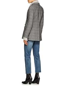 Leander Glen Plaid Wool Blend Double Breasted Blazer by Nili Lotan