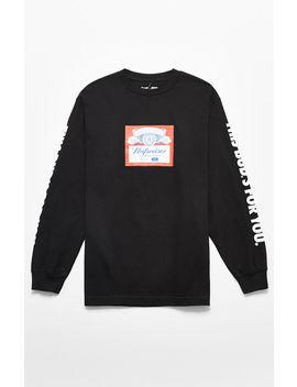 Huf X Budweiser Label Long Sleeve T Shirt by Pacsun