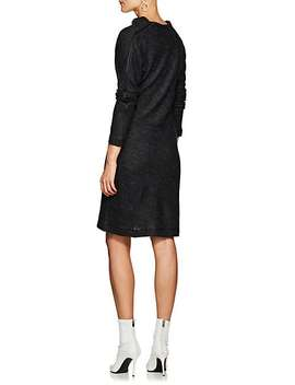 Wool Blend Asymmetric Sweaterdress by Helmut Lang