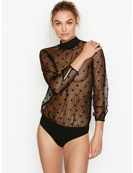 Dot Mesh Bodysuit by Victoria's Secret